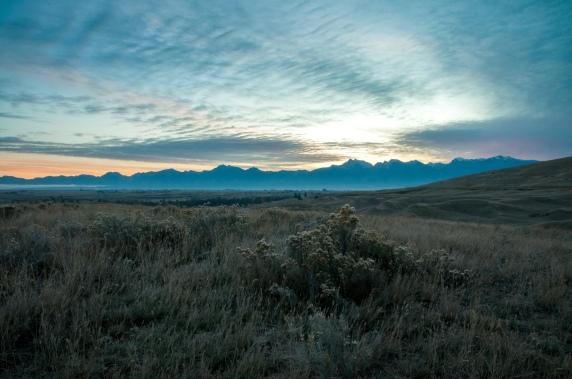 Dawn on the National Bison Range